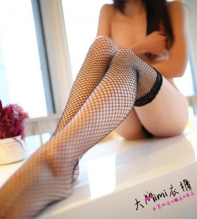 蕾絲防滑網襪(4色)
