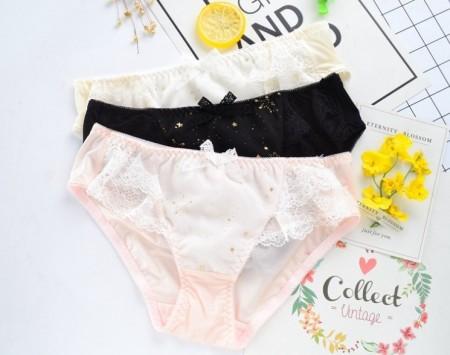 超舒服牛奶絲星點內褲(2色)