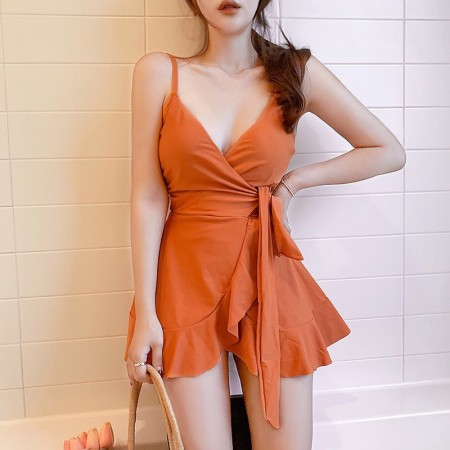 小香風裙式泳衣