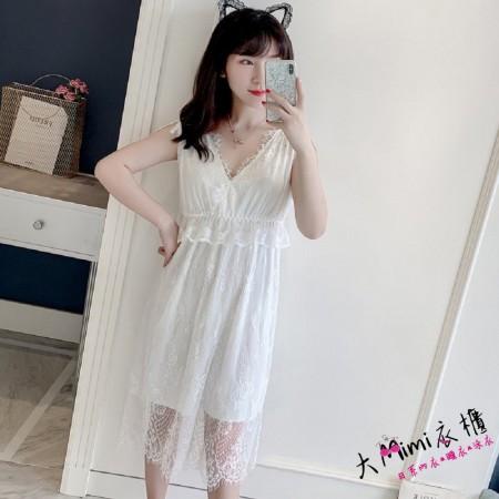 夏季女士蕾絲花邊睡衣(3色)
