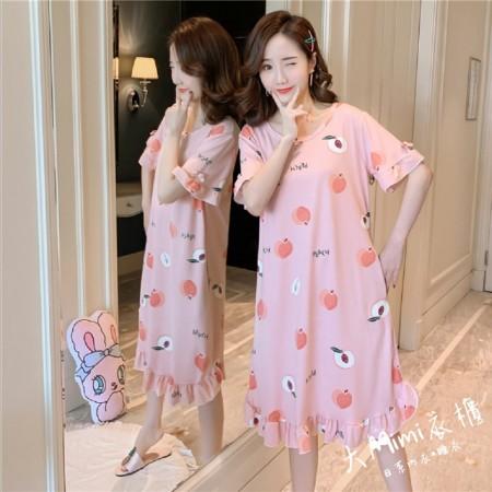 水蜜桃裙裝短袖居家服