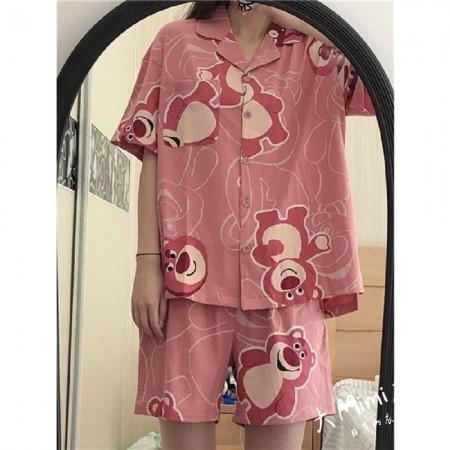 (草莓熊)短袖扣子褲裝