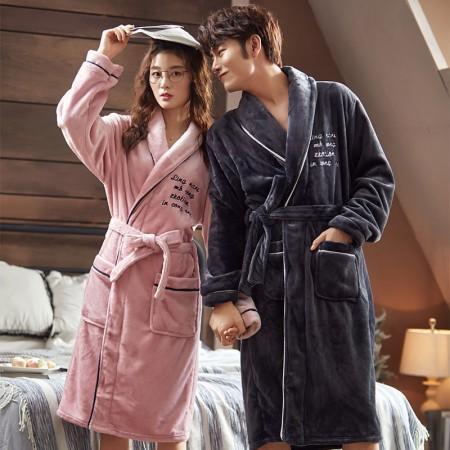英文氣質睡袍