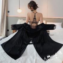 蜜月冰絲睡袍(4色)