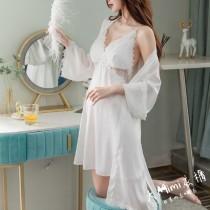 春夏冰絲綢緞罩杯睡衣(5色)
