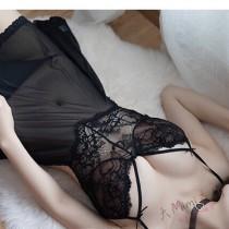 性感蕾絲線條睡衣