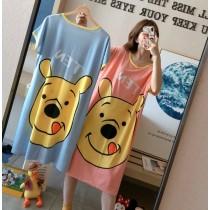 小熊維尼裙裝短袖居家服(2色)