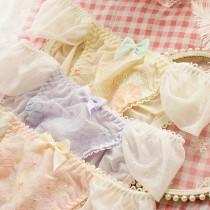 日系夢幻牛奶絲內褲(3色)