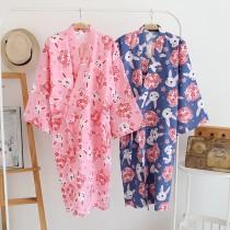 兔兔日系浴衣和服(2色)
