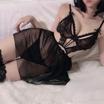 蕾絲性感馬甲喵性感睡衣(4色)