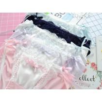(現貨+預購)綁帶性感日系牛奶絲內褲-5色