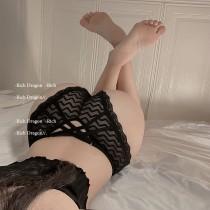 歐美造型線條網紗內褲(色)