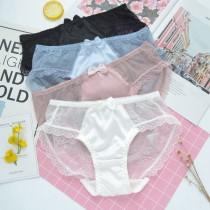 (現貨+預購)珍珠光澤蕾絲日系內褲-4色