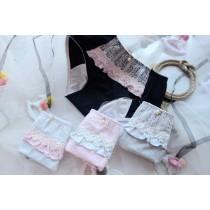 日系珍珠緞帶蕾絲生理褲內褲