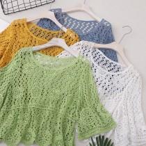 蕾絲鏤空泳衣罩衫(3色)