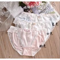 (現貨+預購)日系蕾絲舒適內褲-3色