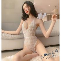 露背提花蕾絲性感睡衣(2色)
