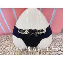 大緞帶設計蕾絲日系內褲