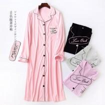 純棉長袖睡衣(6色)
