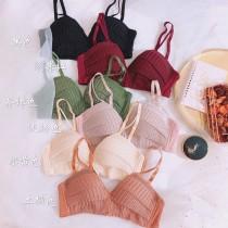 可愛糖果色編織蕾絲內衣(4色)