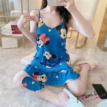 (米奇&米尼)無袖裙裝-2色