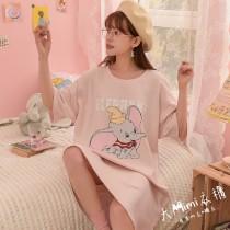 小飛象短袖洋裝(2色)