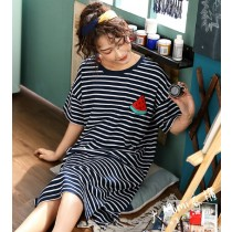 條紋西瓜裙裝短袖居家服