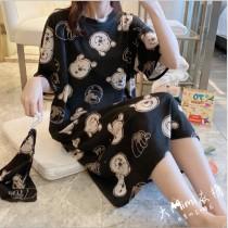 維尼熊裙裝短袖居家服(附束口收納袋)