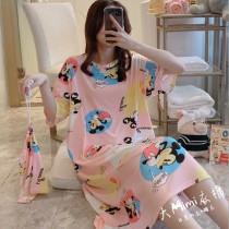 米奇裙裝短袖居家服(附束口收納袋)