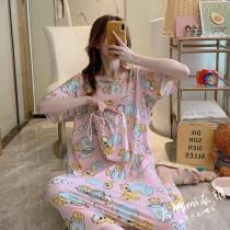 加菲貓裙裝短袖居家服(2色)(附收納束口袋)