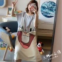 小兔裙裝短袖居家服(2色)