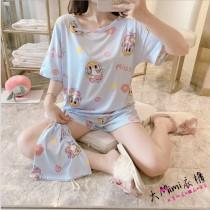 藍黛西居家服套裝(衣服+褲子)