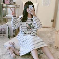 (條紋貓&老鼠)長袖裙裝居家服