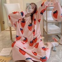 (草莓)長袖裙裝居家服