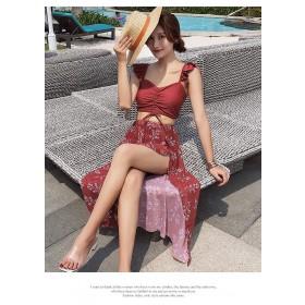 韓版遮肚子造型洋裝比基尼