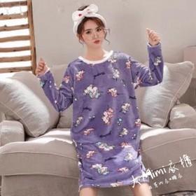 獨角獸法蘭絨裙裝睡衣