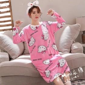 Hello Kitty法蘭絨裙裝睡衣